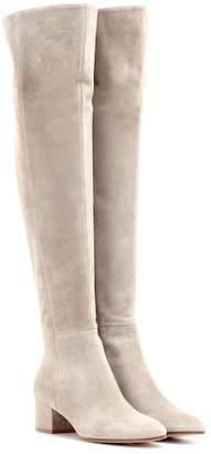 Gianvito Rossi Exclusive to mytheresa.com – Rolling Mid suede over-the-knee boots