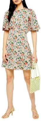 Topshop TALL Austin Daisy Print Mini Dress