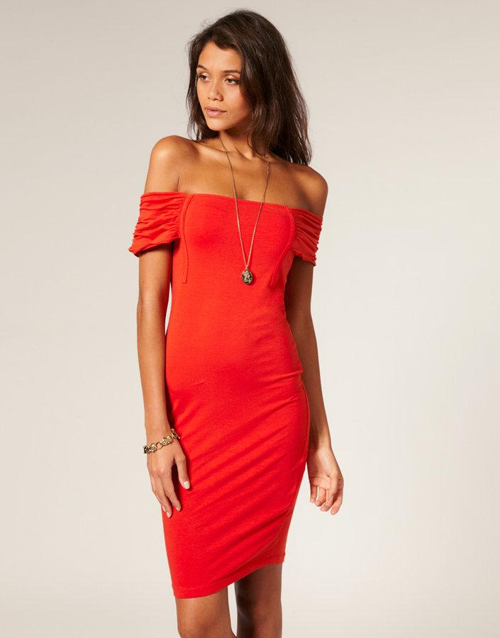ASOS Off Shoulder Body-Conscious Dress