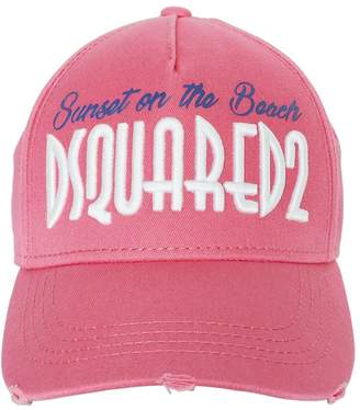 DSQUARED2 On The Beach Embroidered Canvas Hat