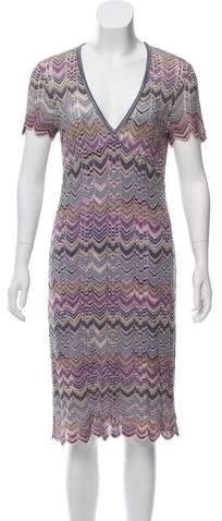 Missoni Patterned Knit Knee-Length Dress