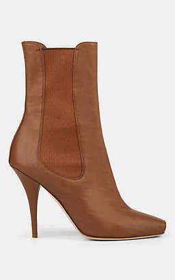Burberry Women's Kenzie Leather Chelsea Boots - Sand