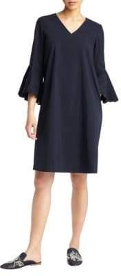 Lafayette 148 New York Bell-Sleeve Shift Dress
