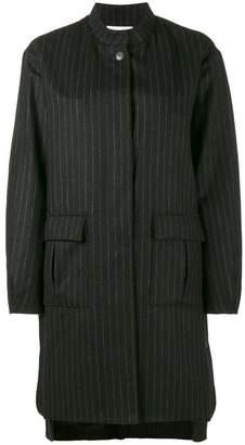 Lot 78 Lot78 pinstripe cocoon coat