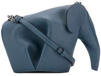 Loewe elephant mini crossbody bag steel blue
