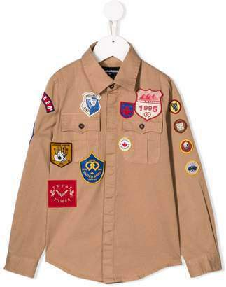 DSQUARED2 badge detail shirt