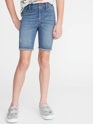 77a803f12 Old Navy Ballerina Distressed Frayed-Hem Denim Shorts for Girls