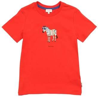 Paul Smith (ポール スミス) - PAUL SMITH JUNIOR ゼブラプリント コットンジャージーTシャツ