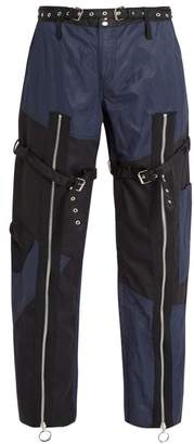 Marques'almeida - Patchwork Twill Trousers - Mens - Black Navy