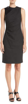 Elie Tahari Raphaella Side-Ruched Sheath Dress
