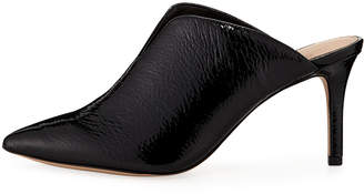 BCBGeneration Malena Pointy-Toe Faux-Patent Mules