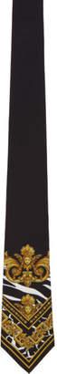 Versace Black Barocco Print Tie