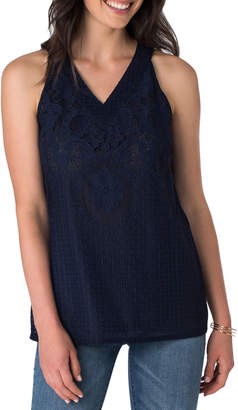 5twelve Lace Halter-Neck Top, Navy