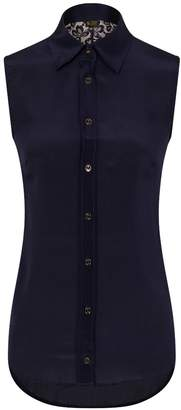 Sophie Cameron Davies - Midnight Blue Lace Back Top