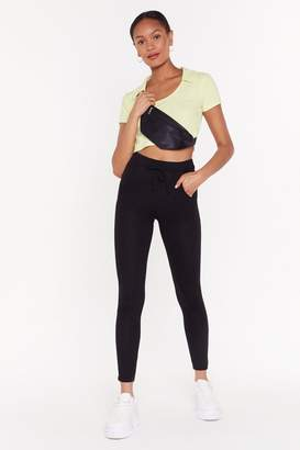 Nasty Gal Womens We Go High-Waisted Fitted Joggers - Black - 10