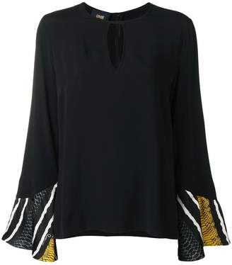 Class Roberto Cavalli striped sleeves blouse