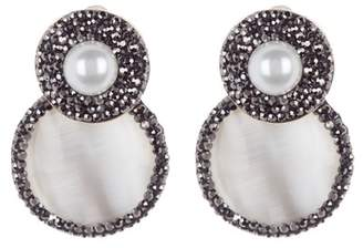Panacea Double Circle Imitation Mother of Pearl Luxe Earrings