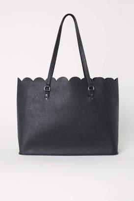 H&M Scalloped-edge Shopper - Gray - Women