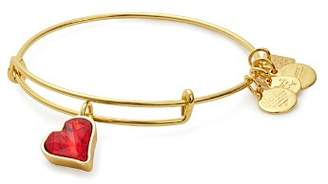 Alex and Ani Heart of Strength Expandable Wire Bangle, Charity by Design Collection