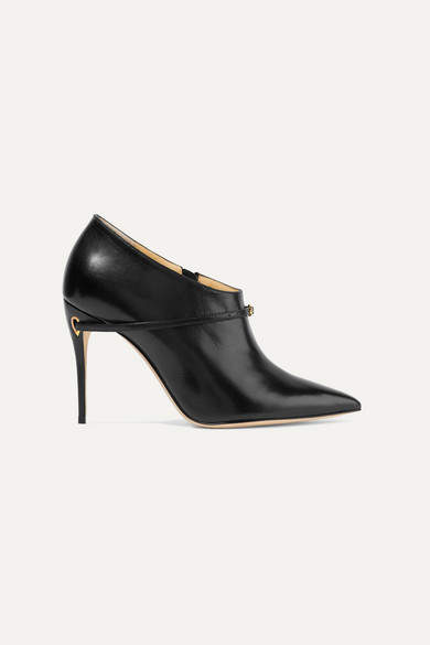 Jennifer Chamandi - Fausto Leather Ankle Boots - Black