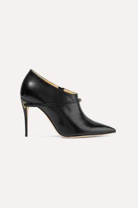 Jennifer Chamandi - Fausto Leather Ankle Boots - Black