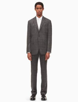 Calvin Klein x-fit ultra slim fit grey plaid suit