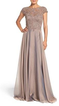 Women's La Femme Embellished Lace & Satin Ballgown $479 thestylecure.com
