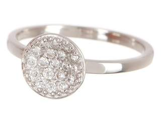 Argentovivo Sterling Silver Pave CZ Round Fashion Ring