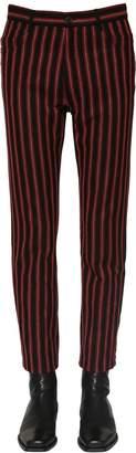 Ann Demeulemeester Striped Cotton & Wool Pants