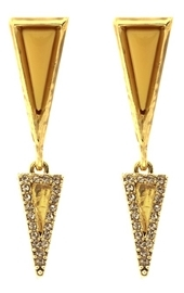 House Of Harlow Acute Pave Double Drop Earrings