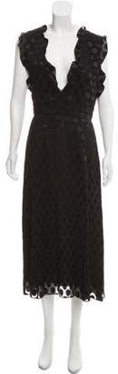 Cushnie et Ochs Woven Satin Dot Dress w/ Tags