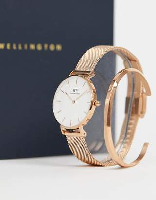 Classic Melrose mesh watch and bracelet gift set in gold