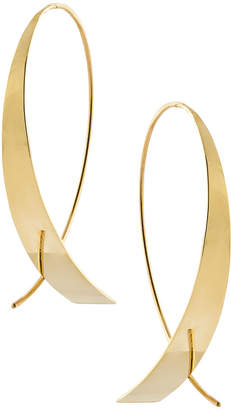 Lana Bond Small Vanity Glam Upside Down Hoop Earrings