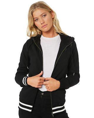 Volcom New Women's Good One Zip Hoodie Cotton Polyester Black
