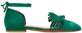 Santoni tassel pumps