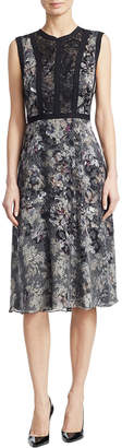 Y-yigal YYIGAL Yigal Azrouel Poppy Python Burnout Silk Dress