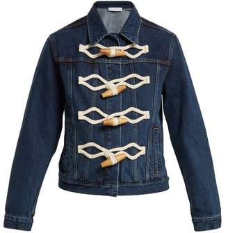 J.W.Anderson Oversized Toggle Denim Jacket - Womens - Denim