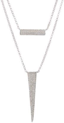 Diana M . Fine Jewelry 14K 0.48 Ct. Tw. Diamond Layered Necklace