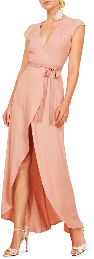 Reformation Chamomile Wrap Maxi Dress