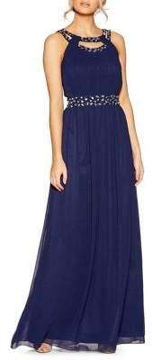 Quiz Chiffon Roundneck Maxi Dress