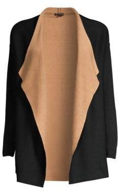 Eileen Fisher Contrast Cascading-Front Cardigan