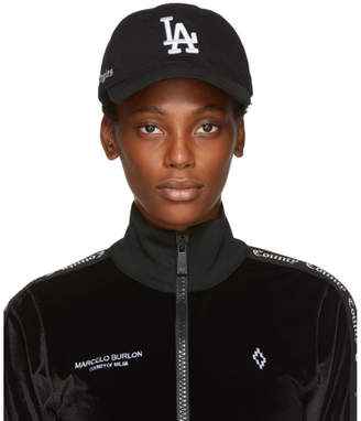 Marcelo Burlon County of Milan Black LA Dodgers Edition Cap