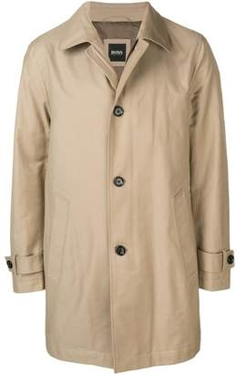 HUGO BOSS buttoned trench coat