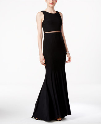 Betsy & Adam Illusion-Inset Popover Gown $239 thestylecure.com