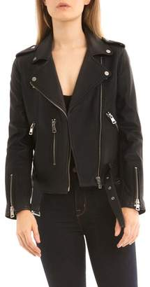 Bagatelle BAGATELLE.NYC Washed Leather Biker Jacket