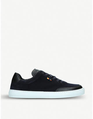 Earl suede and leather trainers