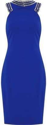 Badgley Mischka Embellished Cady Dress