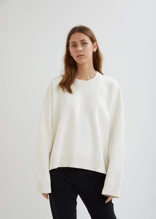 Paco Rabanne Oversized Cotton Side Zip Sweater