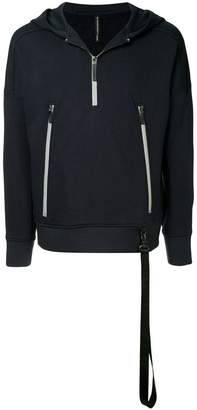 Blackbarrett zipped pockets hoodie