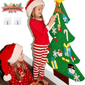 3ft DIY Felt Christmas Tree Sets +26pcs DIY Christmas Ornaments for Kids